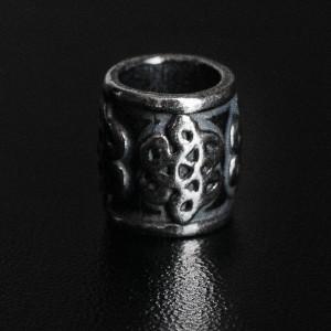 Бусина Rondelle Китайский узел, ручное литье с серебряным покрытием (гальваника)