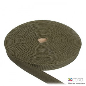 Лента ременная / 50 метров, 25 мм, олива полиамидная