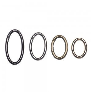 Овальное кольцо - карабин, 25мм. Black