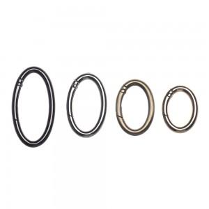 Овальное кольцо - карабин, 32 мм. Black
