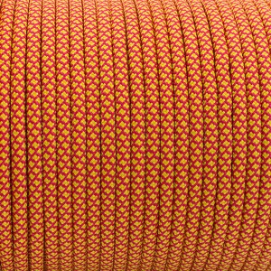 РРМ cord 6mm, COLOR #6 YELLOW/RED SNAKE-PPM6