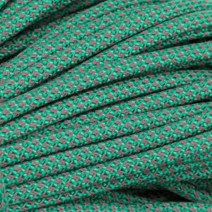 Paracord 550, super reflective 50/50  snake emerald green  #r16086S (светоотражающий)