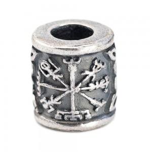 """Бусина для темляка """"Шлем Ужаса Агисхьяльм"""", ручное литье с серебряным покрытием"""