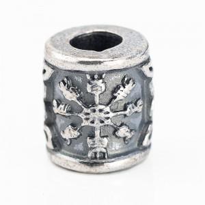 """Бусина для темляка """"Шлем Ужаса Агисхьяльм V.2"""", ручное литье с серебряным покрытием"""